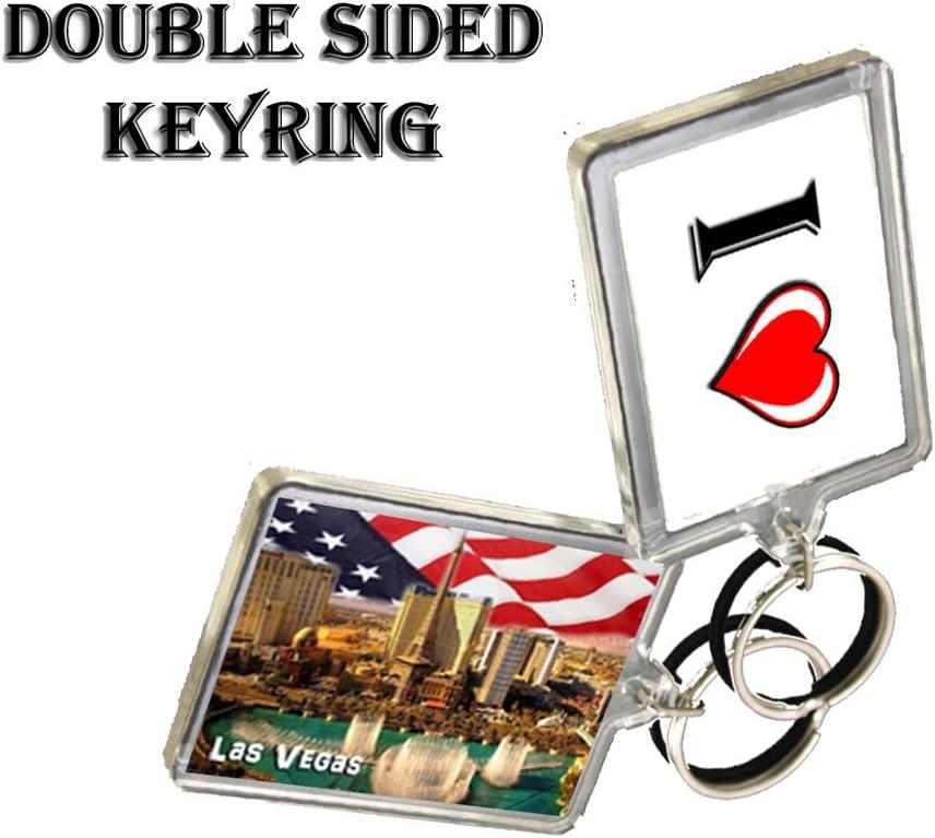 C303 Las Vegas Usa SchlÜsselanhÄnger I Herz Usa Travel Vintage Keychain Auto