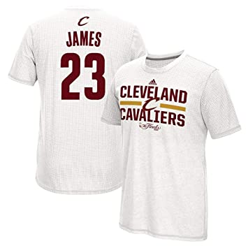 Adidas Lebron James Cleveland Cavaliers NBA Gametime Shooter Blanco 2016 Finals Aeroknit Climacool Camiseta para Hombre