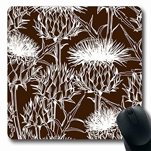 - Ahawoso Mousepads Onopordum Brown Bloom Pattern Acanthium Scottish Spike Thistle Nature Blooming Blossom Botanical Oblong Shape 7.9 x 9.5 Inches Non-Slip Gaming Mouse Pad Rubber Oblong Mat