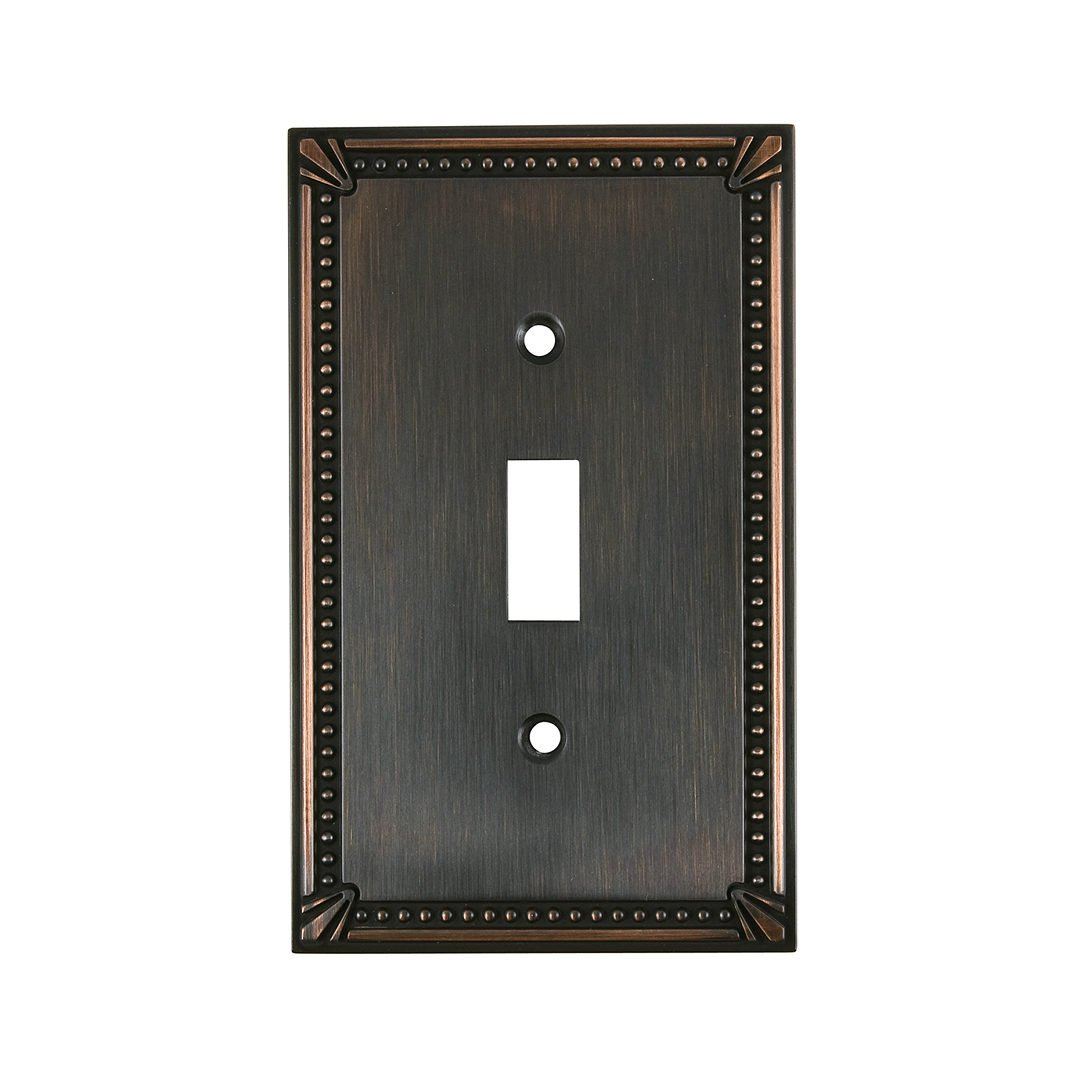 4.97 Richelieu Hardware Traditional Style 1 Toggle Entry Switch Plate Antique English 4.97 BP863AE