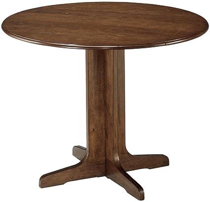 Ashley Furniture Signature Design - Stuman Dining Room Table - Drop Down  Leaves - Medium Brown