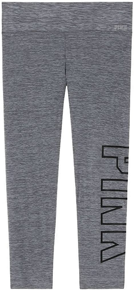Victorias Secret Pink New Limited Edition Bonded Crop Ultimate Legging Marl Gray Small