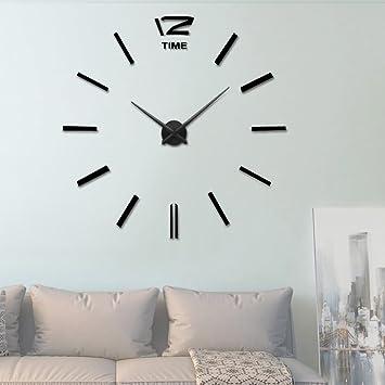 Amazoncom Vangold Frameless DIY Wall Clock 3D Mirror Wall Clock