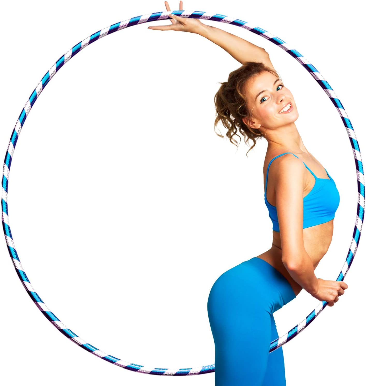 JD Linens Weight Loss Hula Hoop GLITTER Hula Hoops For Adults Women Men Fitness Adult Hoola Hoop Exercise Dance Workout Equipment FREE SKIPPING ROPE