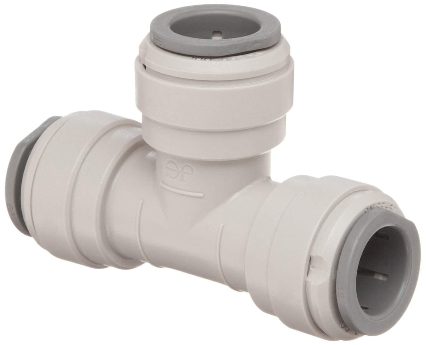 John Guest Acetal Copolymer Tube Fitting, Union Tee, 1/4'' Tube OD (Pack of 10)