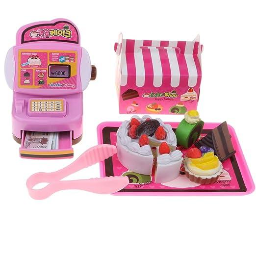 a76a230b0fa9b6 Amazon   F Fityle 8色選択 食品モデル キャッシュレジスター 玩具セット 子ども お店屋さん ままごと ごっこ遊び - ケーキ屋    お店屋さん   おもちゃ