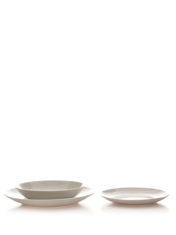Martin Berasategui Set 3 Piezas Vajilla De Porcelana (Llano: 27 Cm + Hondo: 20 Cm + Postre: 20 Cm): Amazon.es: Hogar