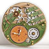 Automaton 1783 celtic emerald green and silver unique vintage wooden wall clock, personalized, housewarming, One-of-a-kind, victorian, gift Review