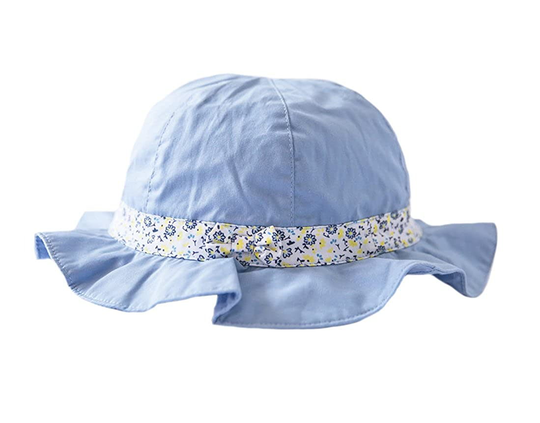Tortor 1Bacha Newborn Infant Baby Toddler Kid Girls Flounce Bucket Sun Hat