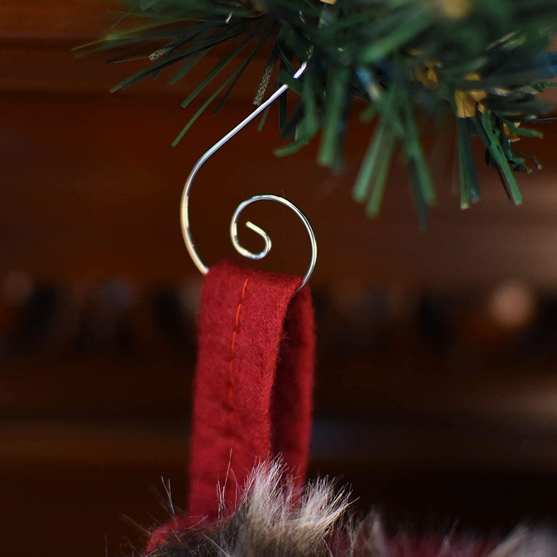 50PCS Christmas Tree Decoration Ornament Baubles Hangers Safety Hooks Gut