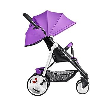 ERRU- Cochecito de bebé puede sentarse Sillas de paseo reclinables Ligero Mini plegable Sistemas de viaje ...