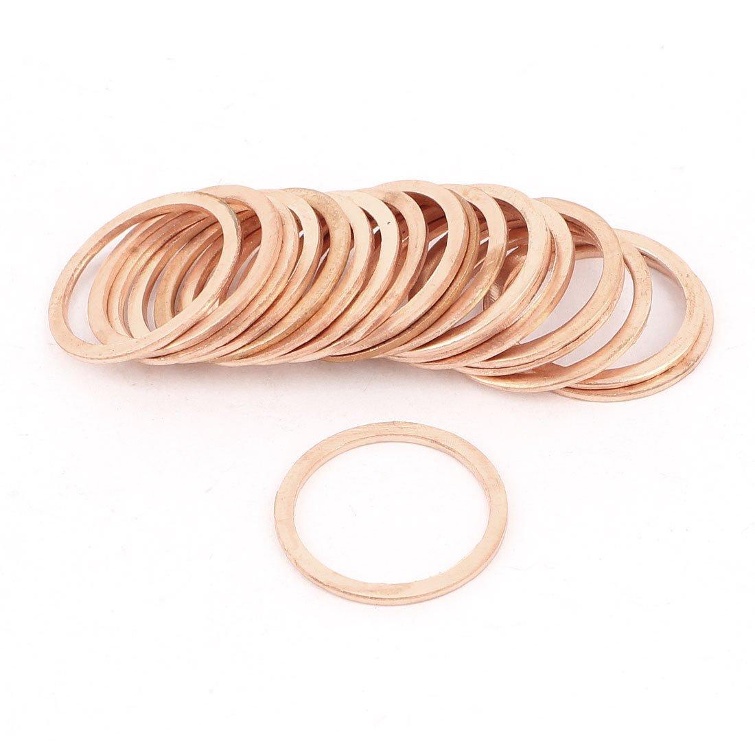 Copper Washer - TOOGOO(R) Tattoo Machine Copper Crush Washer Flat Ring 16mmx20mmx1mm 20 Pcs