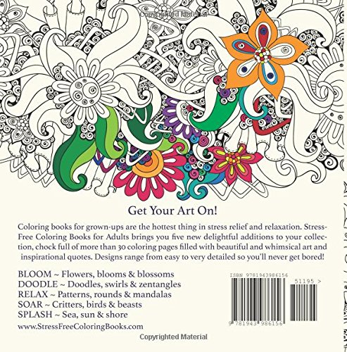 Amazon.com: Bloom: Adult Coloring Book (Stress Free Coloring Books ...