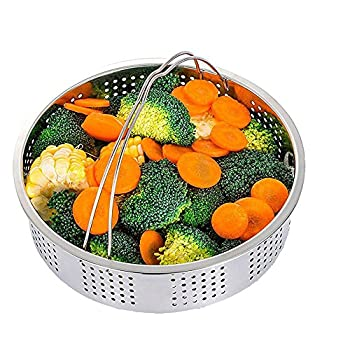 Steamer Basket With Egg Steamer Steamer Rack For Instant Pot & Pressure Cooker Accessories, Vegetable Steam Rack Stand. Fits Instant Pot 5,6,8 Qt Pressure Cooker, Stainless Steel, 2 Pieces 1