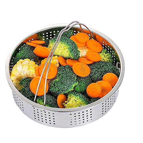 Steamer Basket With Egg Steamer Steamer Rack for Instant Pot and Pressure Cooker Accessories, Vegetable Steam Rack Stand. Fits Instant Pot 5,6,8 qt Pressure Cooker, Stainless Steel, 2 Pieces by OYOY (Image #1)
