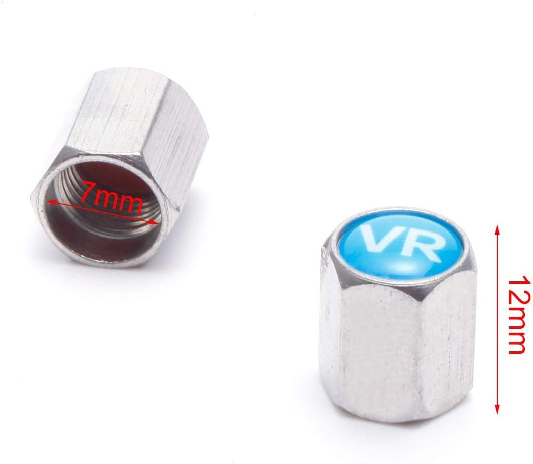 Dichtung Reifenmarkierung Reifenwechsel Auto-Ventilkappen mit Dichtung Anladia Alu Ventilkappe Ventilkappen in Schwarz 10mm bis 12mm 10 Saetze
