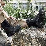 OVERMAL Bottes Hommes Bottes De Randonnée Classiques Bottes Militaires Combat Résistant À l'usure Non Antidérapant… 10