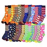 Premium Fun and Colorful Holiday Crew Socks Bundle (18 Pack) (Christmas)