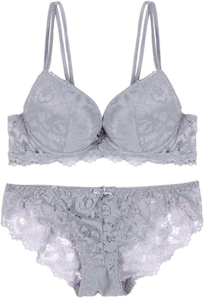 White Padded Underwired Plunge Bra Low Front floral embroidery supportive straps