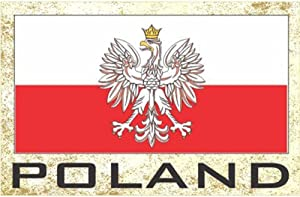 Flag Fridge Refrigerator Magnets – Europe (Country: Poland)