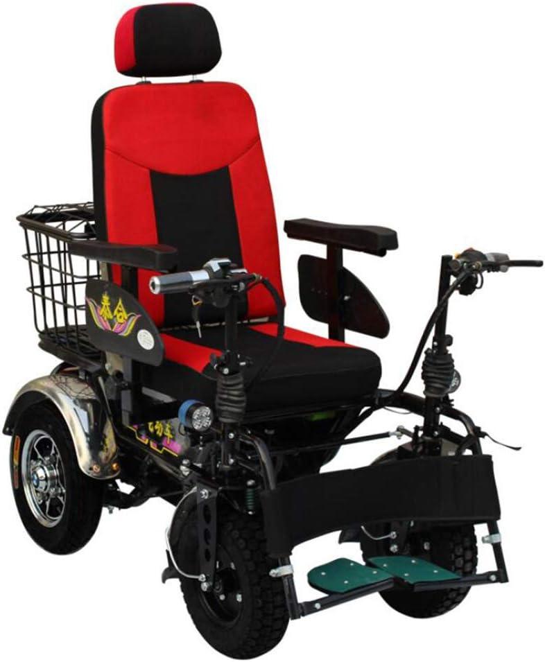 MMRLY Campo a través Silla de Ruedas, Silla de Ruedas autopropulsada, 48V / Silla de Ruedas Quickie 20A de Alta Potencia para Ancianos discapacitados con Silla de Ruedas Multifuncional