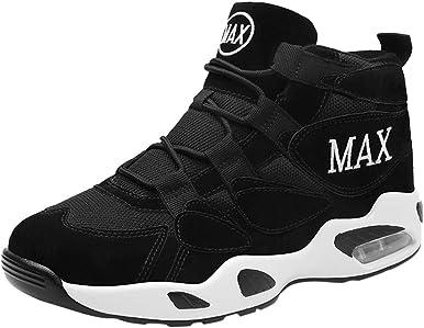 Zapatillas Para Hombres Pareja Transpirable Cómodo Desgaste Cojín Alto Baloncesto Zapatos