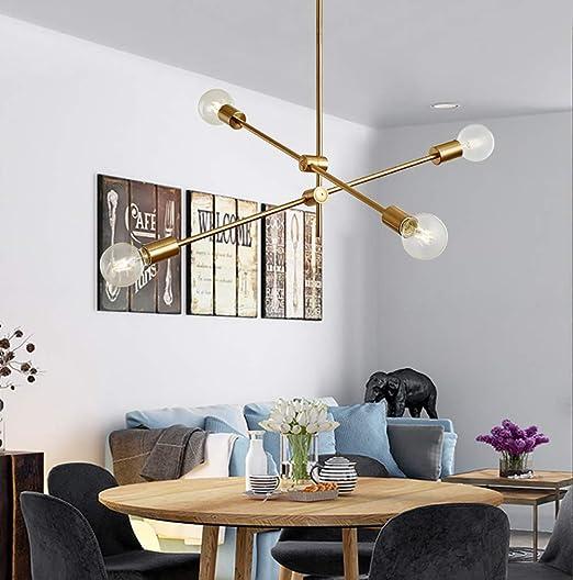moderne industrielle Kronleuchter 6-Licht moderne Mitte des Jahrhunderts Sputnik Kronleuchter Leuchte Home Hanging Light Schwarz 6-Licht Glaskugel E27 Decke w/ährend des Lichts