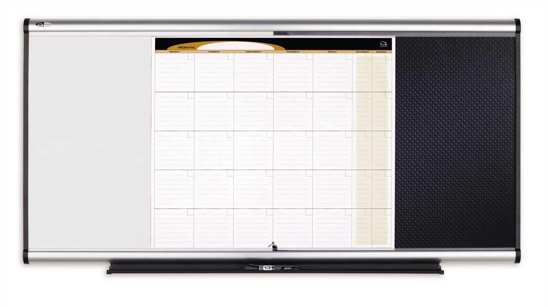 Quartet Prestige 3-In-1 Combination Board, 4 x 2 Feet, Aluminum Frame (CBD544A) ACCO Brands QRTCBD544A