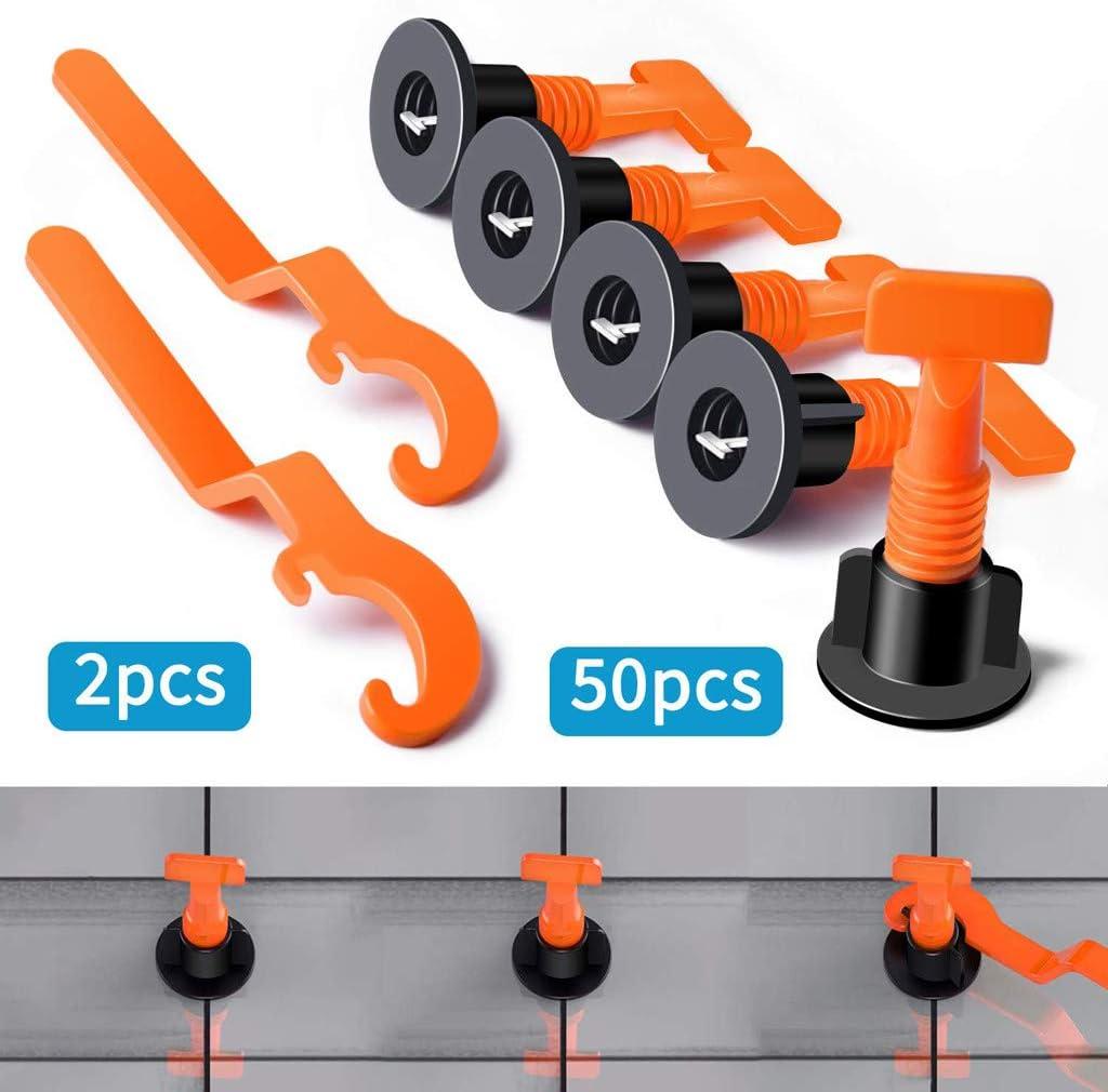 200Pcs Flat Ceramic Floor Wall Construction Tools Reusable Tile Leveling System
