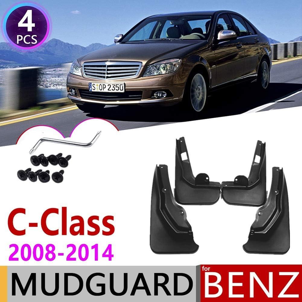 Color : 2008-2011 LRHYG Schmutzf/änger For Mercedes Benz C-Klasse C180 260 300 W204 2008~2014 Fender Schlammschutz Flaps Radsch/ützer Zubeh/ör