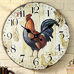 Creative Office silent clock watches fashion Rooster wall clock the living room wall charts simple pastoral creative clock table diameter 34/40/50/60cm,A,24 inch