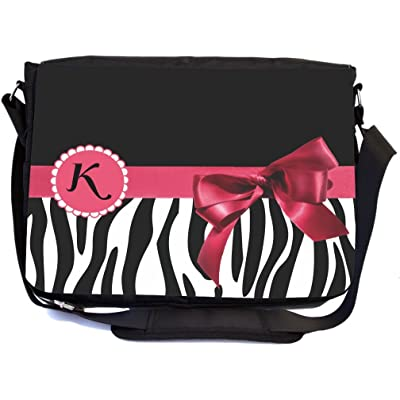 Rikki Knight Letter A Monogrammed geometric pattern Messenger Bag School Bag