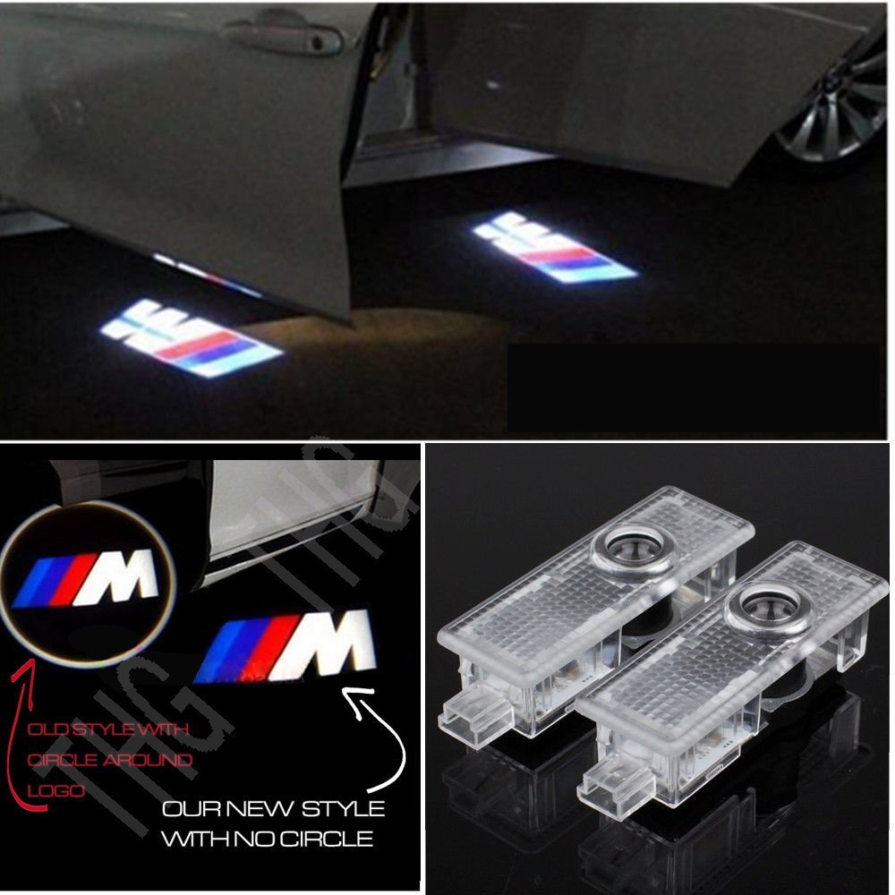 Excellent 4 Pieces of Car Door LED Logo Step Lights Welcome Lights Shadow Projector for BMW Excellent Car Welcome Light .