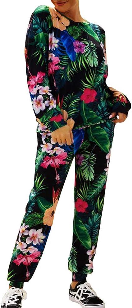 Le donne donna con stampa stelle Jogger inferiore Lounge Wear Vestito Tuta Da Ginnastica