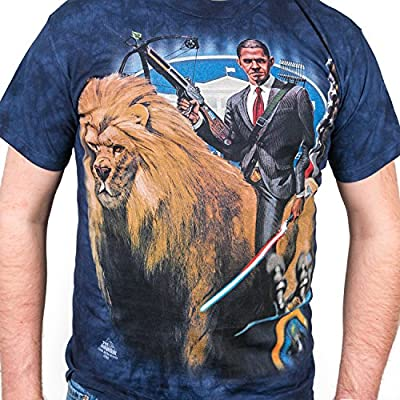 The Mountain President Obama T-Shirt - Riding a Lion with Lasersword