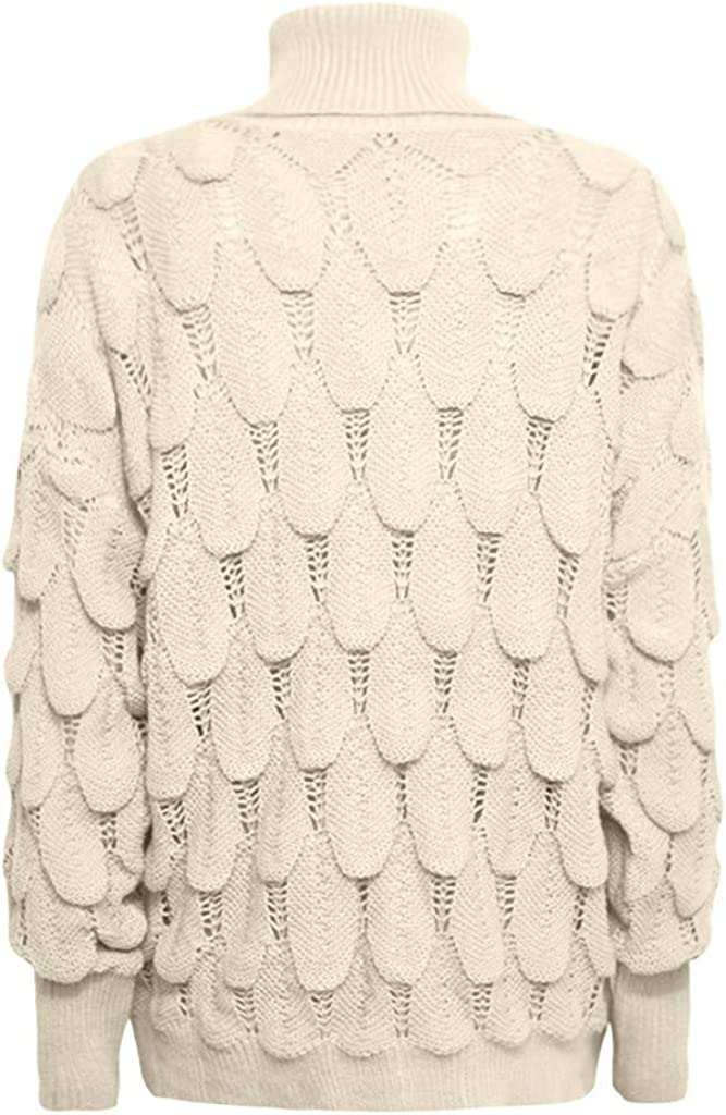 AKwell Women Turtleneck Sweater Casual Knitted Loose Long Sleeve Pullover Slim Sweatshirt