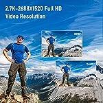 Digital-Camera-Vlogging-Camera-30MP-27K-Full-HD-Compact-Camera-with-180-Degree-Flip-Screen-Mini-Camera-with-32GB-Memory-Card-2-Batteries