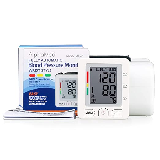 Amazon.com: Blood Pressure Monitor Wrist Accurately Detects Blood Pressure Heart Rate & Irregular Heartbeat, Large LCD Display, 180 Memory Capacity Easy to ...