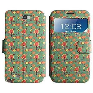 LEOCASE Polluelos Amarillos Funda Carcasa Cuero Tapa Case Para Samsung Galaxy Note 2 N7100 No.1001058