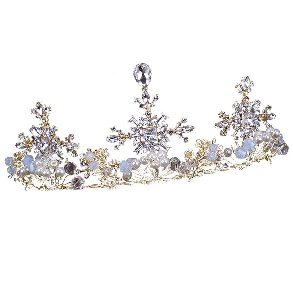 Wedding Crown, Beautiful headdress/Bridal Headwear Crown Suit Necklace Wedding Accessories Crown Wedding Accessories