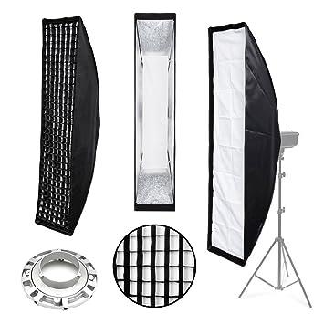 Photography Studio Stripbox u0026 Honeycomb Grid | Bowens Fit | 22x90cm | Flash Strobe Monolight Strip  sc 1 st  Amazon UK & Photography Studio Stripbox u0026 Honeycomb Grid | Bowens: Amazon.co.uk ...