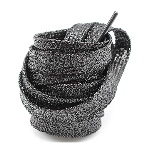 9948f1a4e826d GOOTRADES Metallic Glitter Flat Shoelaces for Canvas Sneaker Athletic 45  inch (2 pairs)