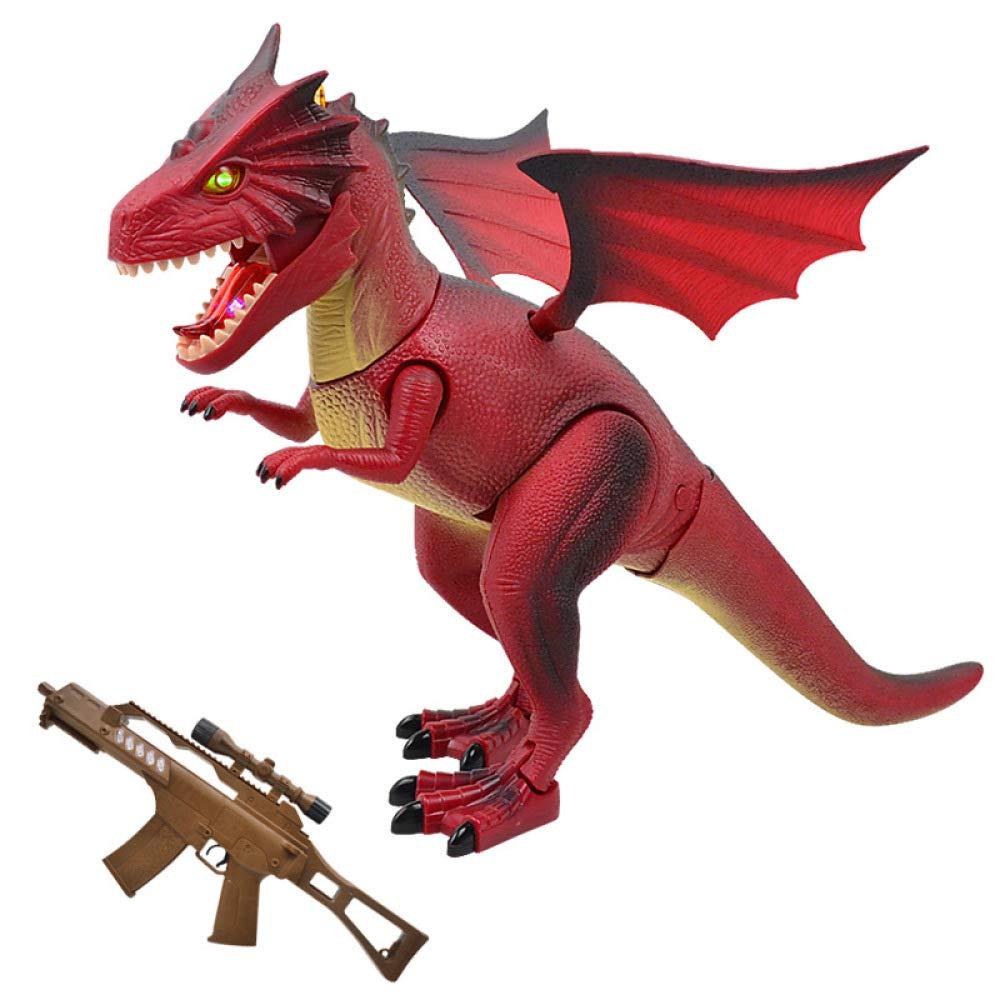venta caliente rojo SEJNGF Simulación De Control Control Control Remoto De Dinosaurio Modelo Juguete De Control Remoto Infantil,rojo  mejor opcion