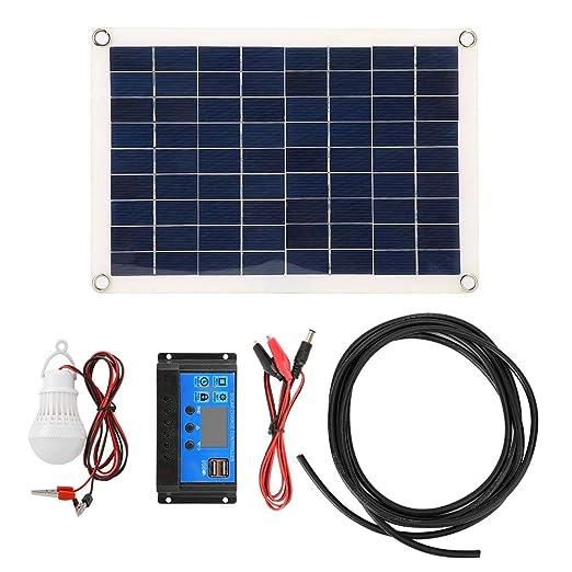 Xinwoer 15W Dual 5V USB Solar Power Panel Trickle Kit de ...