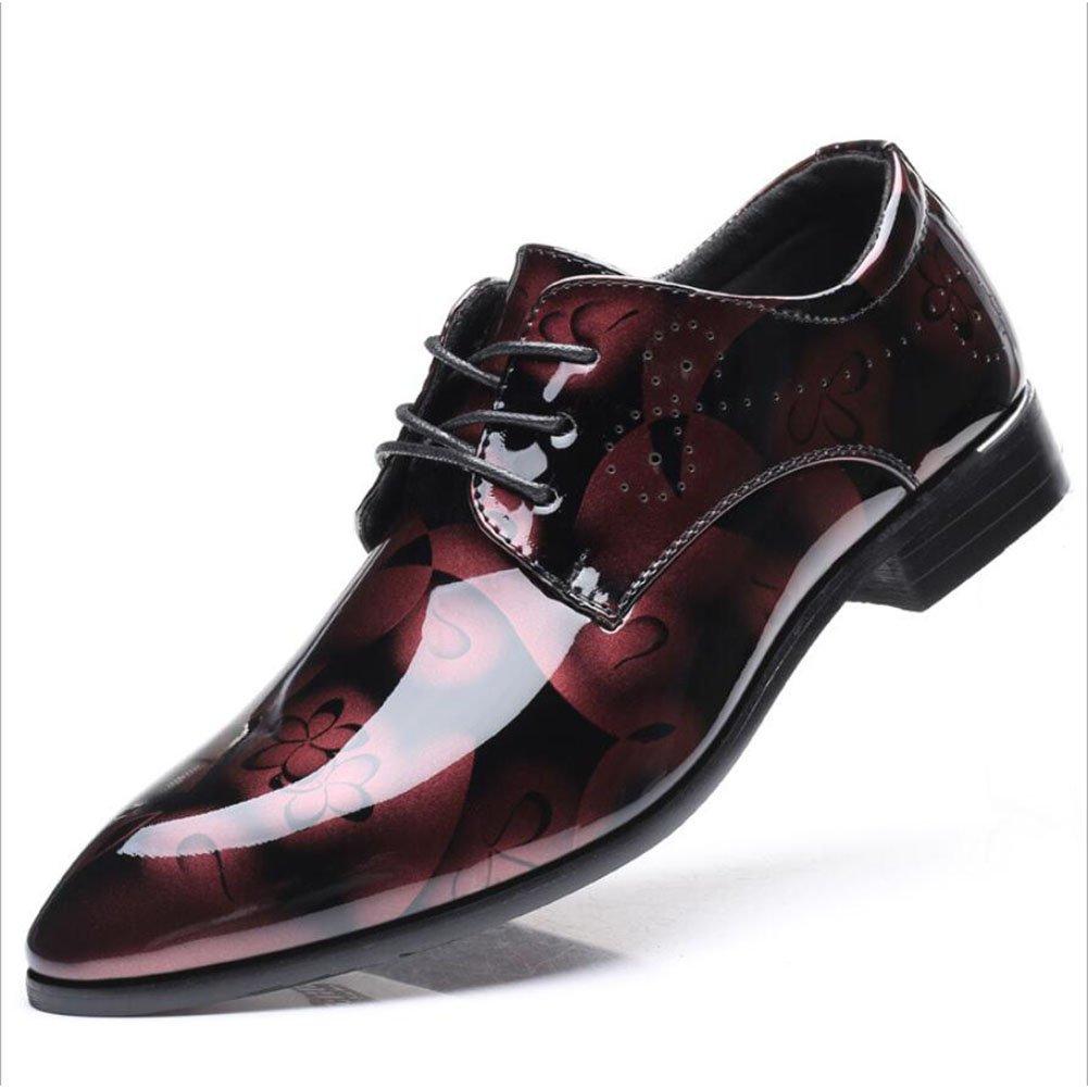 Gfp 2018 Frühling und HerbstMen's Leder Oxford Schuhe Klassische Lace up Schuhe mit Hand Genäht & geklebt Sohlen Formal Business Arbeit Bequeme Mokassins (Farbe   Ein)