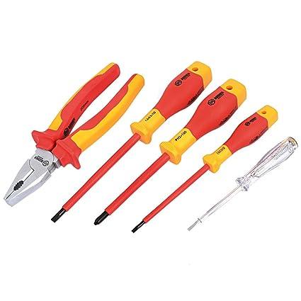 BOOHER IEC-60900 protección VDE destornillador de electricista juego ...