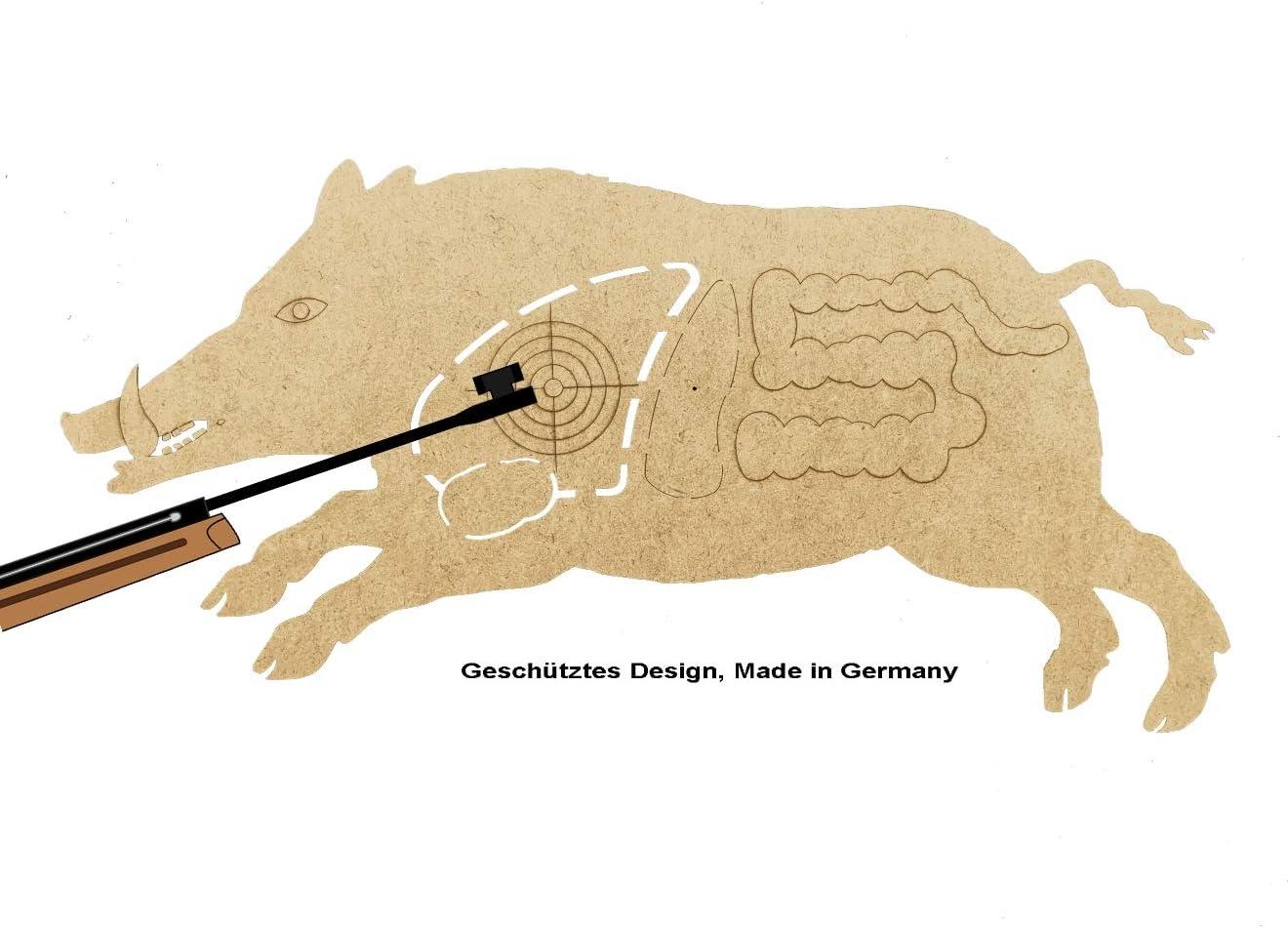 MomoMoments - Diana de madera para armas de aire comprimido, diseño de caza