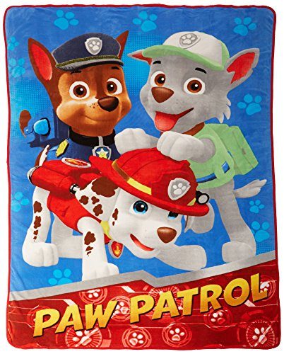 Nick Jr Paw Patrol All Paws on Deck Micro Raschel Blanket, 6