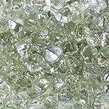 Celestial Fire Glass Diamonds - Clear Luster   10 Pound Jar