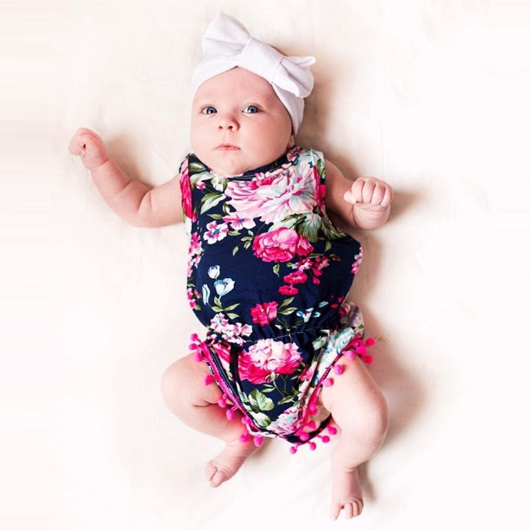 Amanod Newborn Toddler Baby Girls Floral Bodysuit Romper